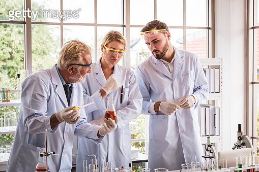 Scientists teamwork