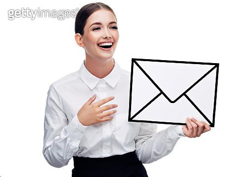 e-mail 심볼 제스처