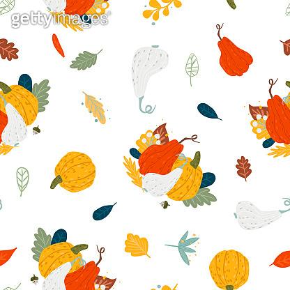 Autumn flat illustration