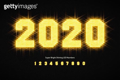 Shining LED light alphabet
