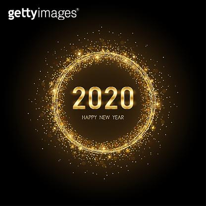 Golden 2020 background