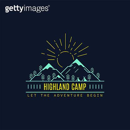 Camp logo design