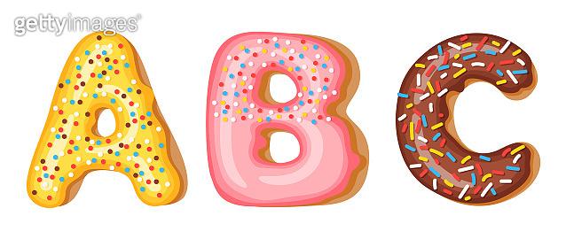 Donut alphabet