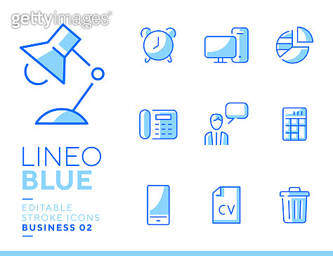 Lineo blue icon
