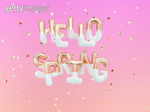 Foil balloon text