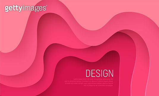 Pink waves layers background