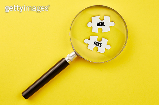 Looking for target with magnifying glass
