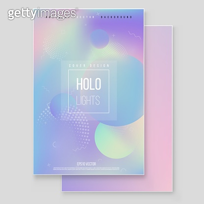 Holographic poster template