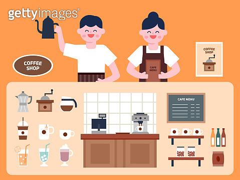 Shop interior illustration