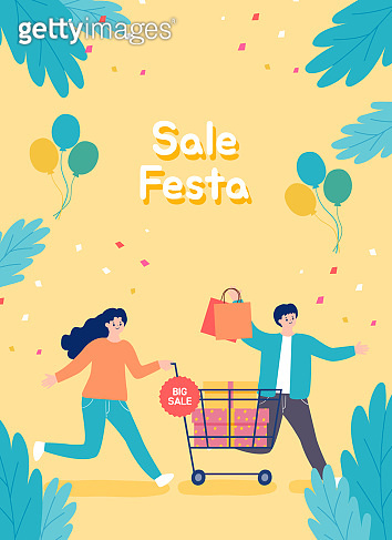 People shopping sale at store