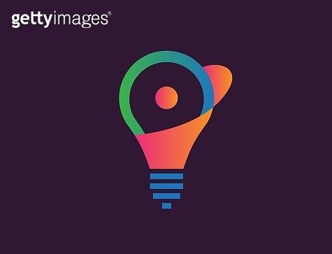 Light bulb lamp logo