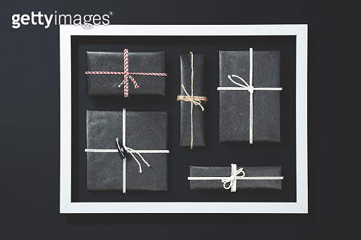 gift boxes flat lay
