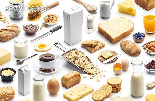 Presentation of healthy breakfast