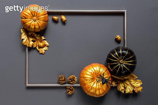 Flat lay autumn composition