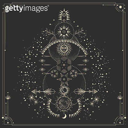 Vintage engraving style Zodiac Signs