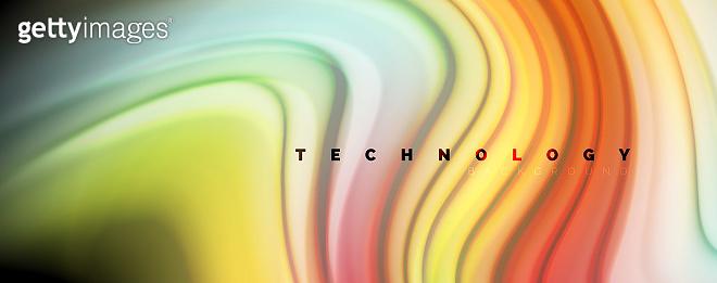 Modern rainbow liquid color flow