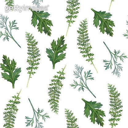 Watercolor botanical pattern