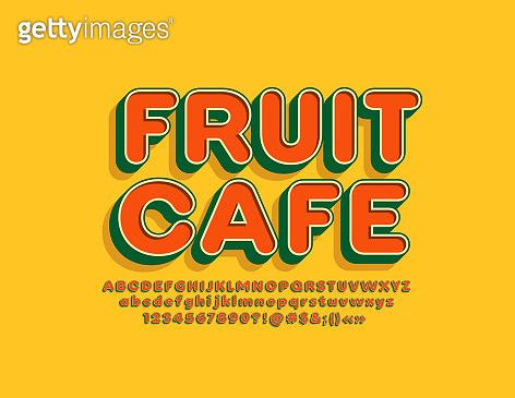 Title typography