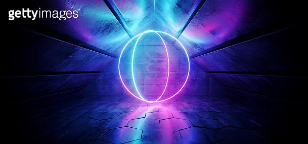 Sci Fi futuristic neon background