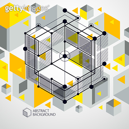 Trendy geometric vector pattern