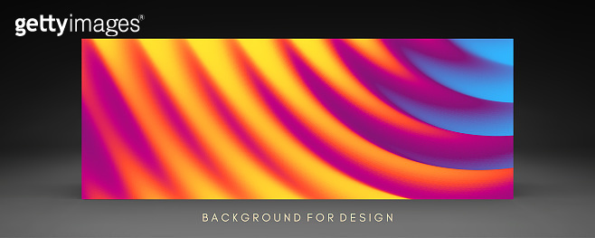 Cover design template with color gradients