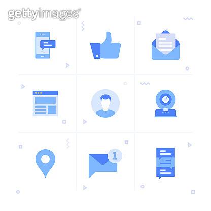 Blue icon Set 70