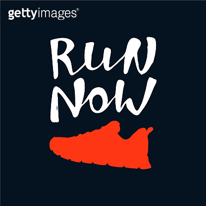 Run Now lettering