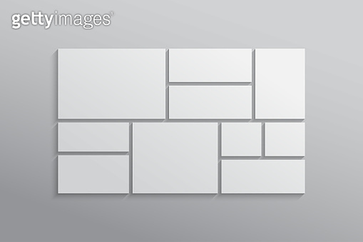 Vector empty collage board frames