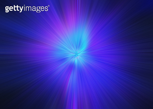 Light explosion star with glowing particles and lines