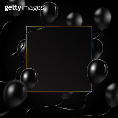 Beautiful black balloons