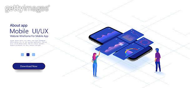 Mobile UX/UI illustration