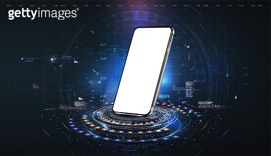 Futuristic technology concept