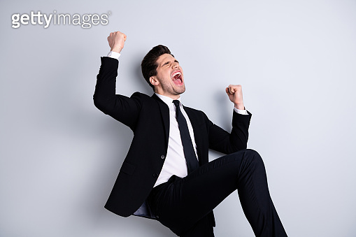 Cheerful business man