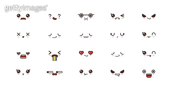 cute faces smile emoticons