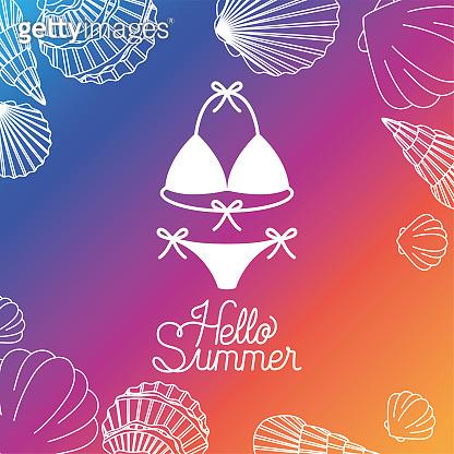 Summer line illustration