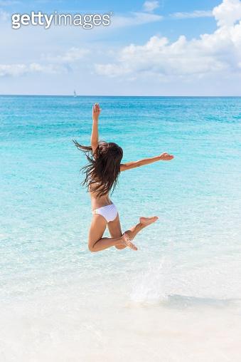 Happy beach vacation