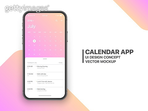 Vector Design Calendar App