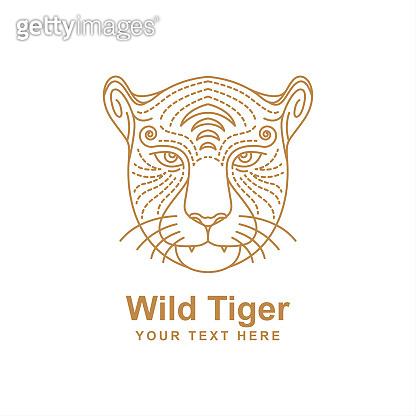 Lion head line art design