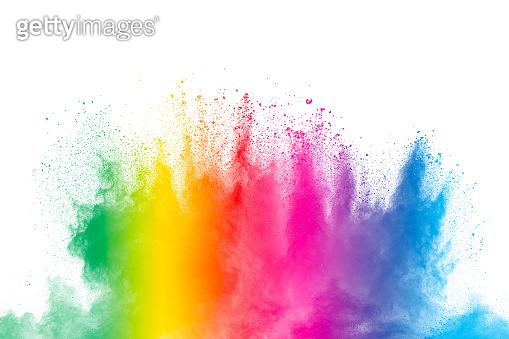 Abstract pastel color dust particles splash