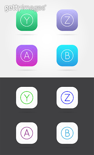 앱 아이콘 템플릿 세트