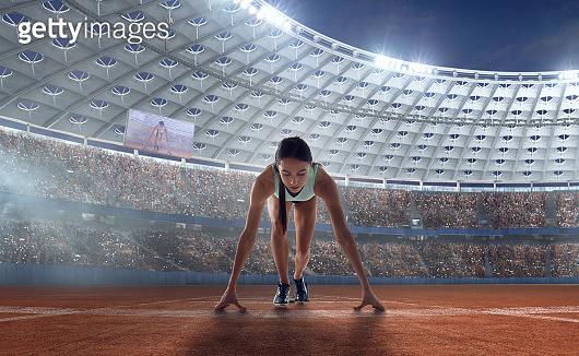 Athlete woman on sport championship