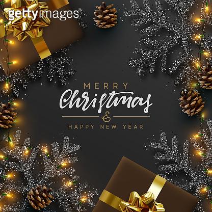 크리스마스 블랙 배경