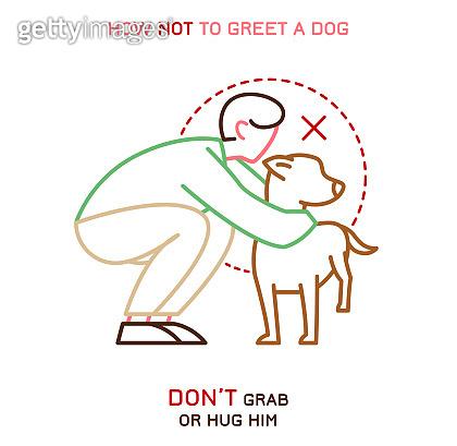 Dog & people behavior illustration