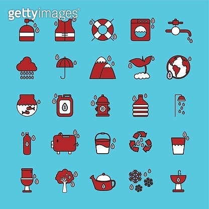 Red&white icons