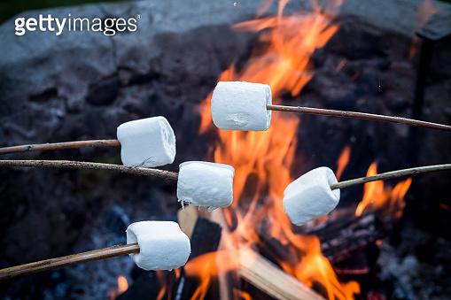 겨울간식 구운 마시멜로