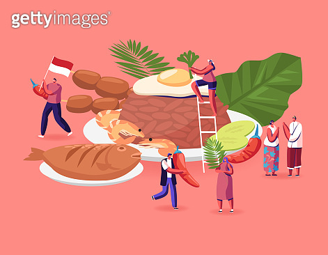 Tiny Characters with food