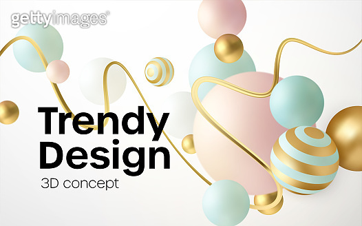 3D realistic cover design