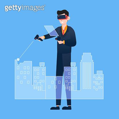 VR 가상현실 일러스트