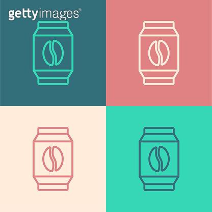Pop art line icons
