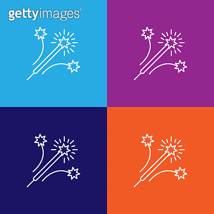 Icon on colored background